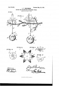 Early Patent - Christmas Tree Candle Holder
