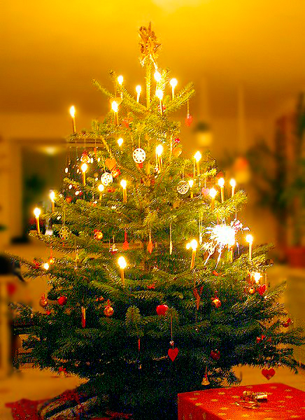 Christmas Tree with Candles