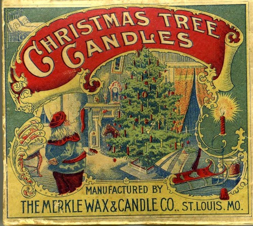 Vintage Christmas Candles.Vintage Christmas Tree Candles And Candle Holders Historic