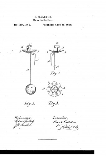 Christmas Tree Candle Holder with Ball Counterweight - Patent