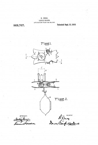 Counter Weight Christmas Tree Candle Holder Patent